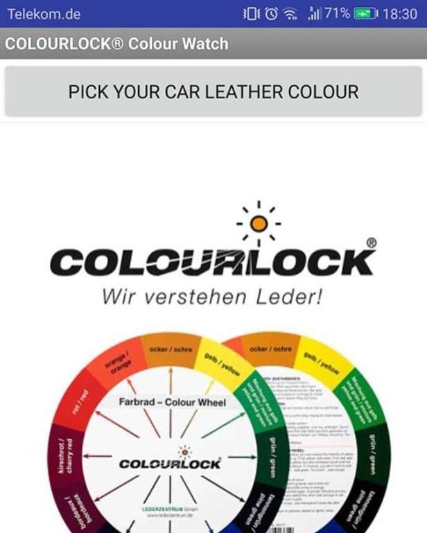 Aplicación Colourlock Colour Watch